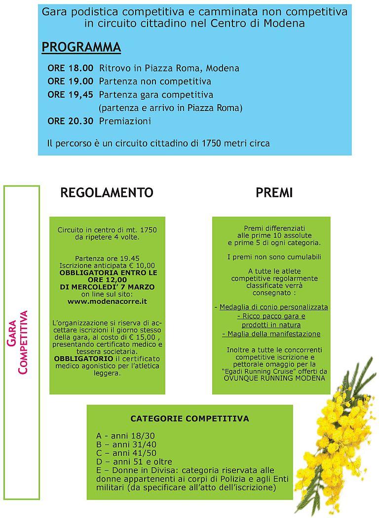 Circuito Modena : Calendario podismo dettaglio gara podistica