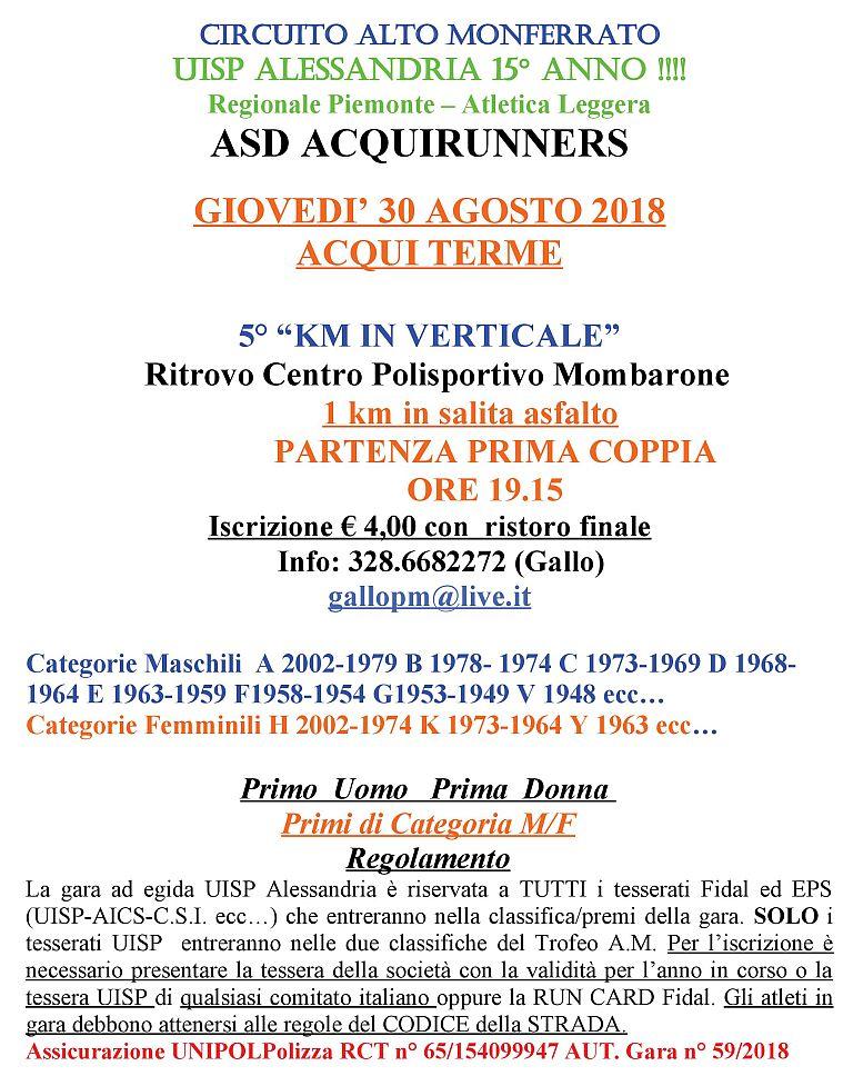 Calendario Podismo Piemonte.Calendario Podismo Mobile Volantino